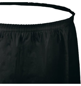 Touch of Color BLACK PLASTIC TABLESKIRT