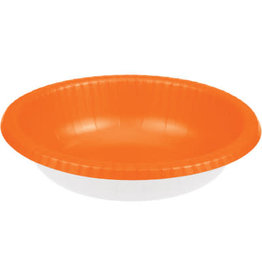 Touch of Color SUNKISSED ORANGE PAPER BOWLS