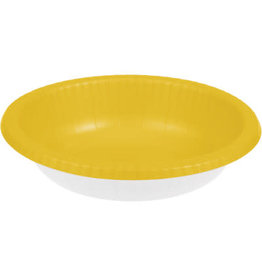 Touch of Color SCHOOL BUS YELLOW PAPER BOWLS