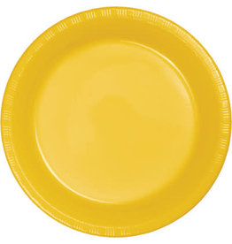 Touch of Color SCHOOL BUS YELLOW DESSERT PLATES