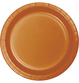 Touch of Color PUMPKIN SPICE ORANGE DESSERT PLATES