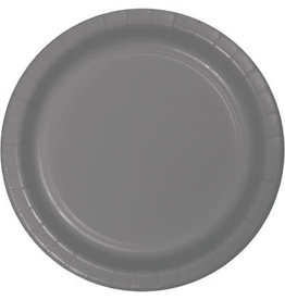 Touch of Color GLAMOUR GRAY DESSERT PLATES