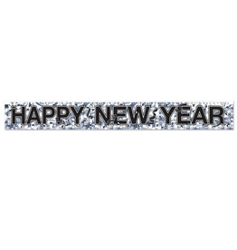 Beistle Silver Happy New Year Banner - 5ft.