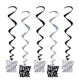 Beistle Happy New Year Hanging Whirls - 5ct.