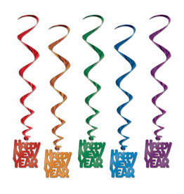 Beistle Happy New Year Whirls ASST