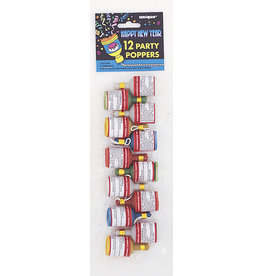 12 CT Multi Party Poppers
