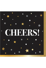Party Creations Golden New Year Beverage Napkin