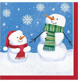 creative converting Smiling Snowmen Lunch Napkins - 16ct.