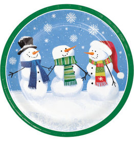 "creative converting Smiling Snowmen 9"" Plates - 8ct."