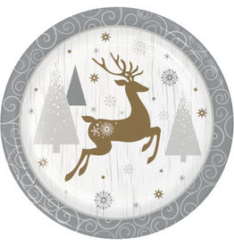 "creative converting Opulent Reindeer Dessert Plates 7"" - 8ct."