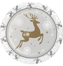 creative converting Opulent Reindeer Plates 9 Inch - 8ct.