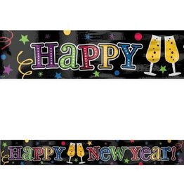 Amscan 9FT - Happy New Year Foil Banner