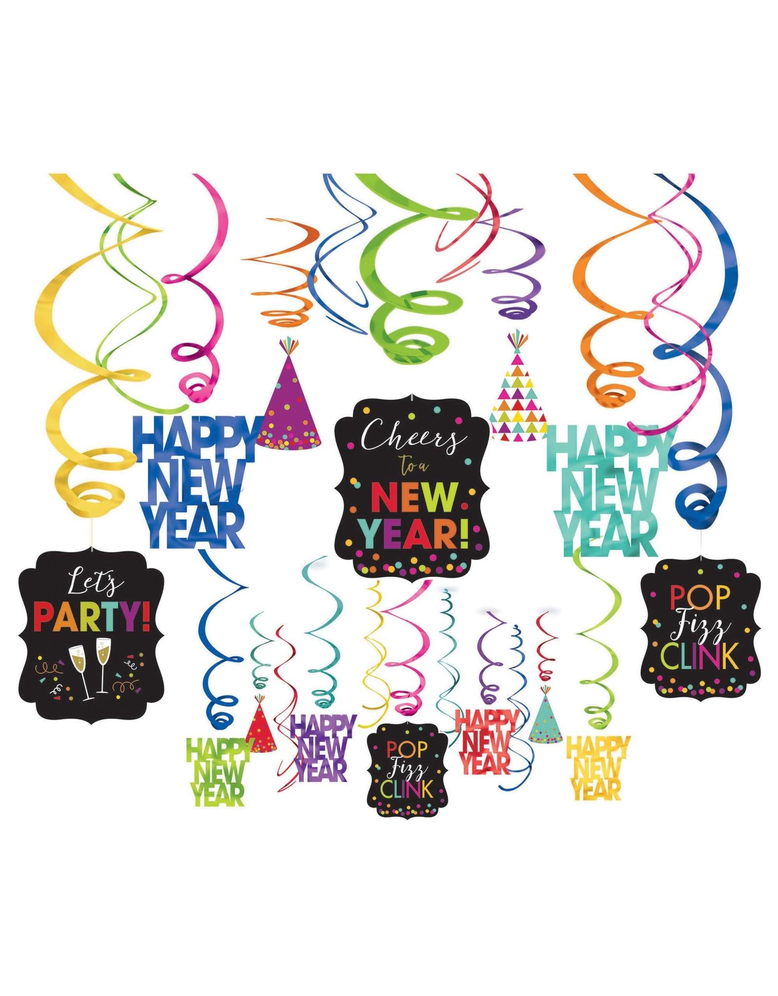 Amscan Happy New Year Swirl Decorations - 30ct.