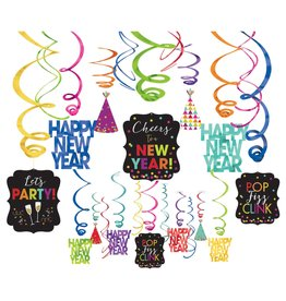 Amscan Happy New Year Swirl Decorations - 30ct.
