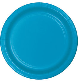Touch of Color TURQUOISE BLUE DESSERT PLATES