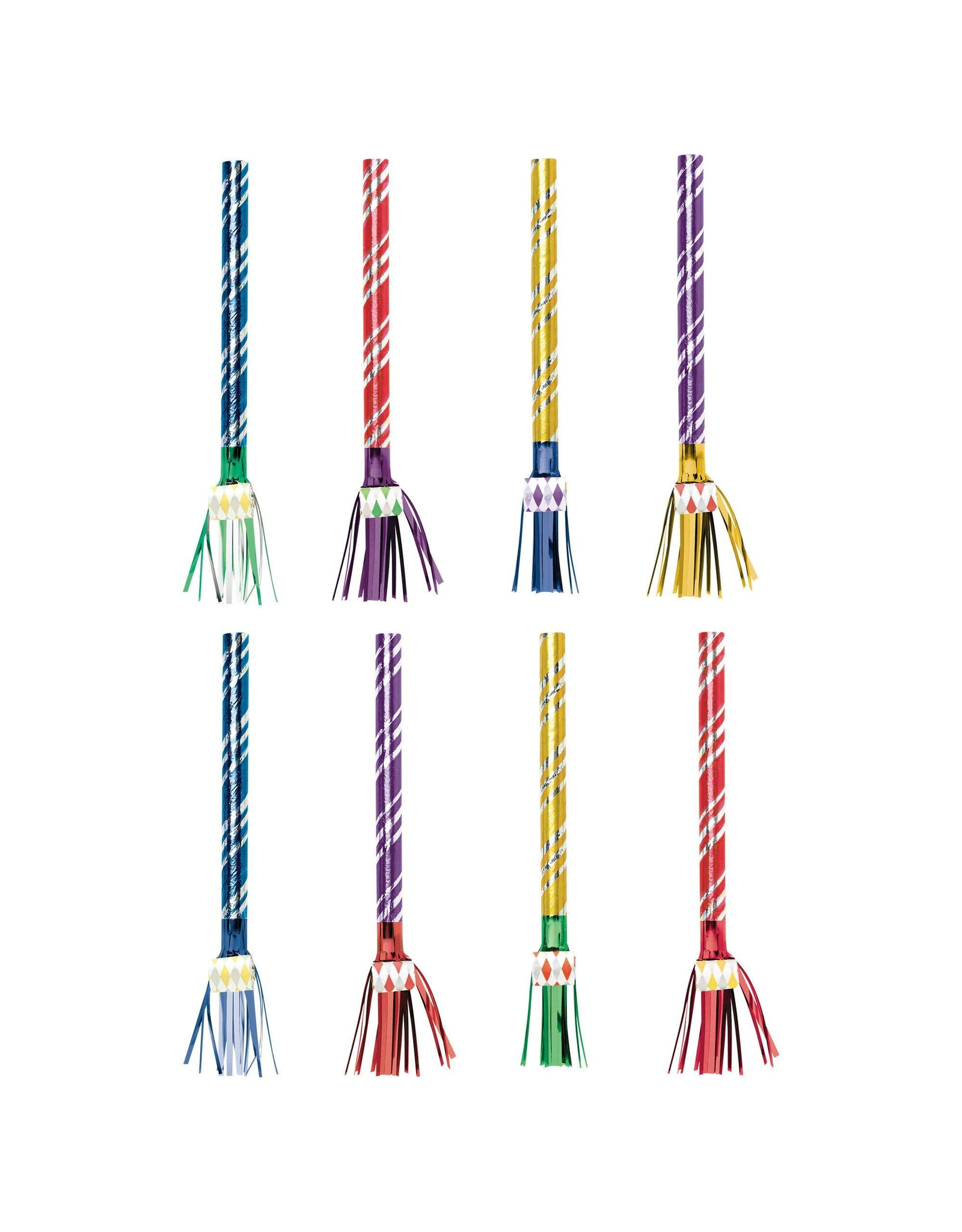Amscan Multi-Color Fringed Blowouts