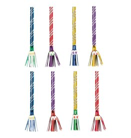 Amscan Multi-Color Fringed Blowouts - 8ct.