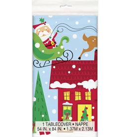 unique Colorful Santa Table Cover