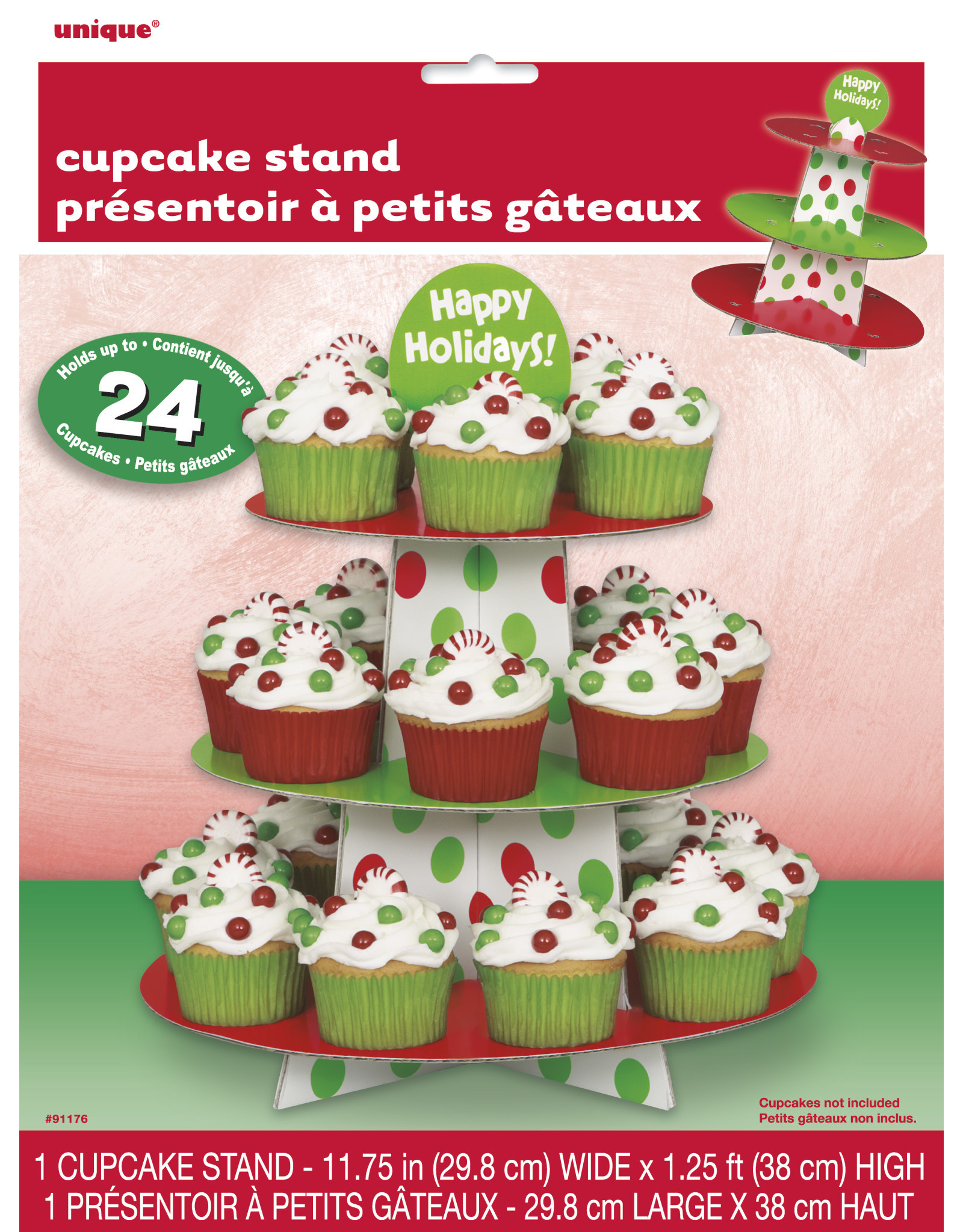 unique 24ct. Christmas cupcake Stand