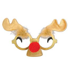 Beistle Reindeer Glittered Glasses