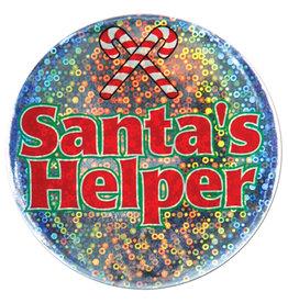 Beistle Santa's Helper Button
