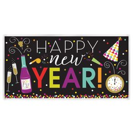 """Amscan Happy New Year Banner (33.5"""" X 65"""")"""