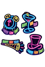 Beistle Happy New Year Neon Cutouts 4ct.