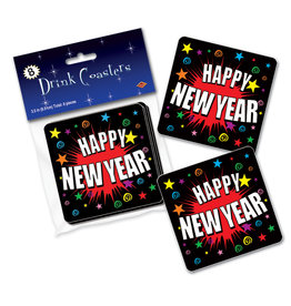 Beistle New Years Drink Coasters