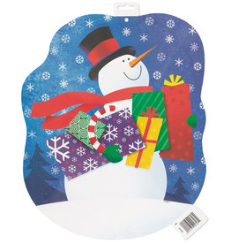 unique Snowman/Presents Cutout
