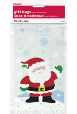 unique 20ct. Santa/ Snowflake Gift Bags