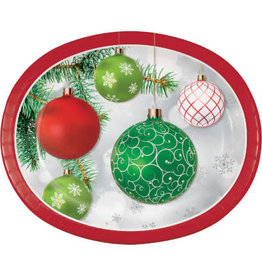 creative converting Upscale Ornaments Dinner Platters - 8ct.