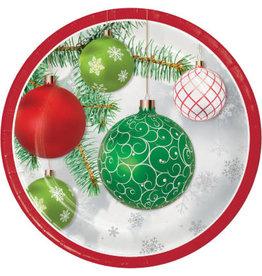 "creative converting Upscale Ornaments Plates 9"" - 8ct."