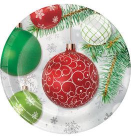 "creative converting Upscale Ornaments Dessert Plates 7"" - 8ct."