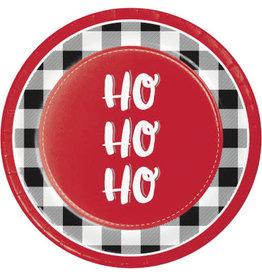 "creative converting Santa Fun Plates 9"" - 8ct."
