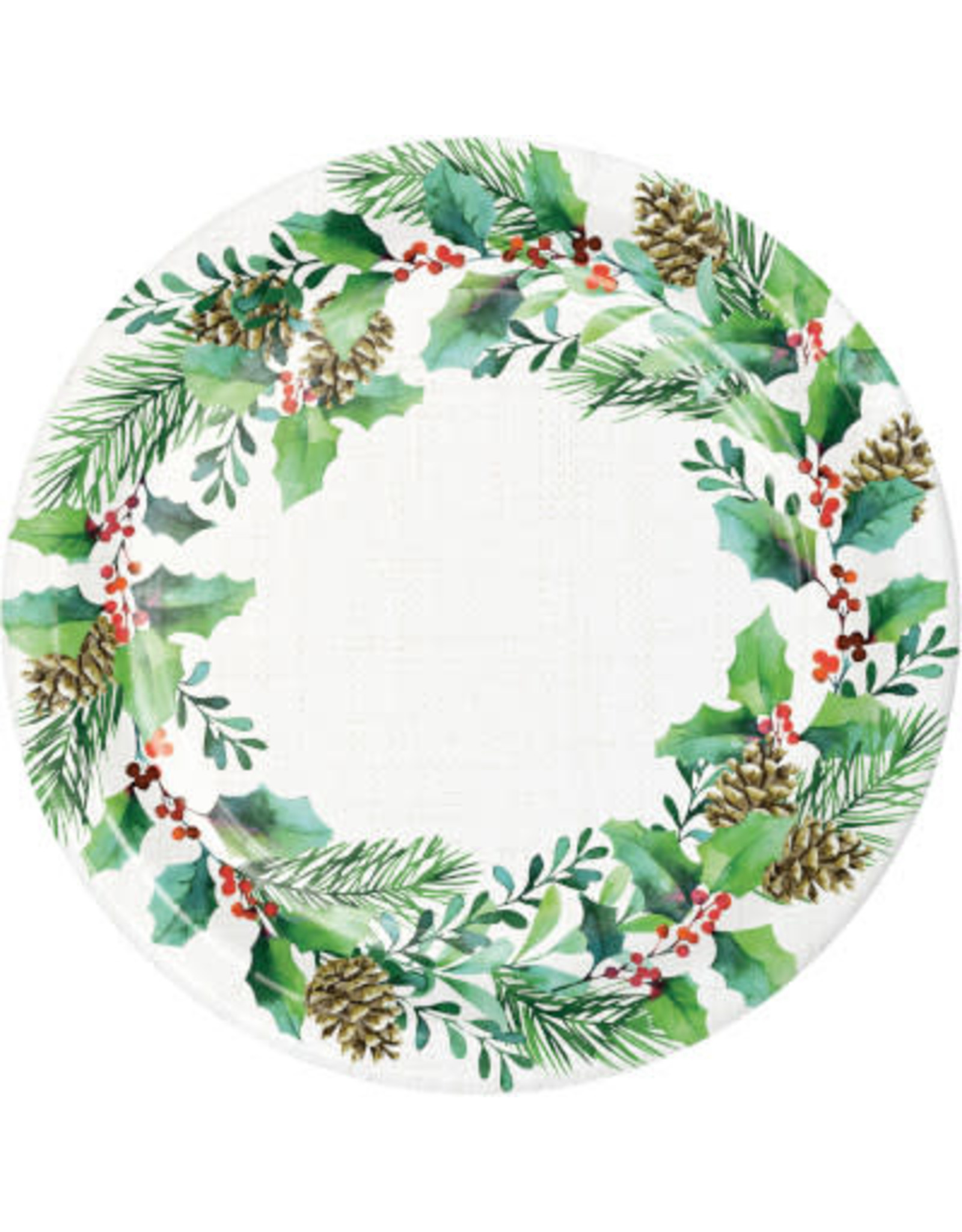 """creative converting Golden Holly Plates 9"""" - 8ct."""