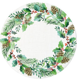 "creative converting Golden Holly Plates 9"" - 8ct."