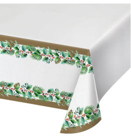 creative converting Golden Holly Table Cover