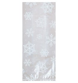 Amscan Clear Snowflake Treat Bag w/ twist ties  - 20ct.