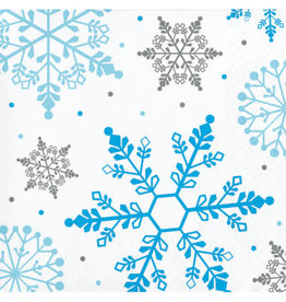 Party Creations Winter Snowflake Beverage Napkin - 16ct.