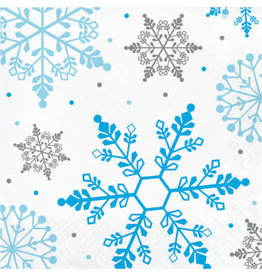 Party Creations Winter Snowflake Lunch Napkin - 16ct.