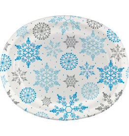 Party Creations Winter Snowflake Oval Platter - 8ct.