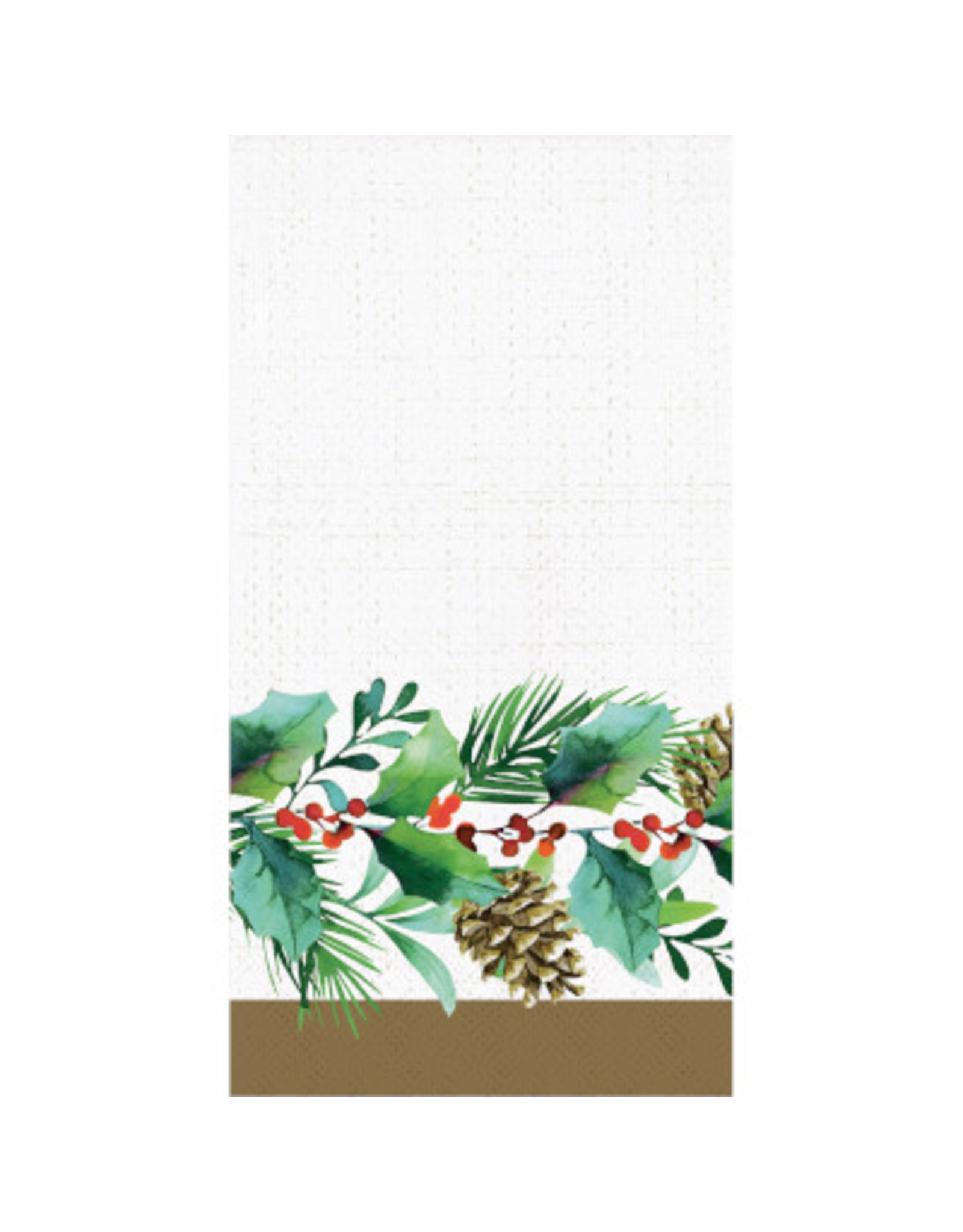 creative converting Golden Holly Guest Towel - 16ct.