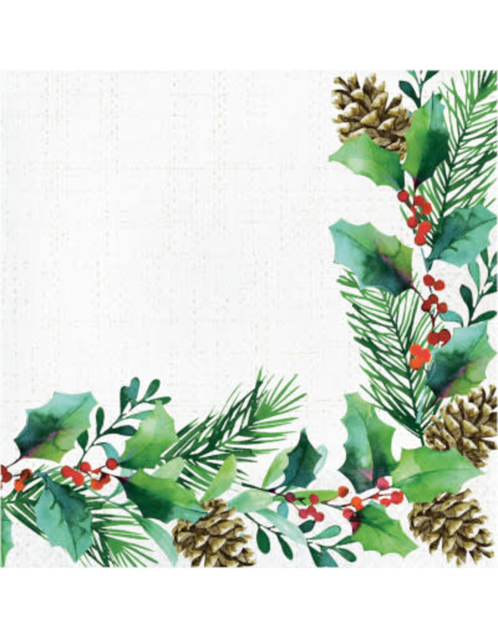 creative converting Golden Holly Lunch Napkins - 16ct.