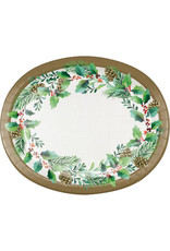 creative converting Golden Holly Dinner Plates platters - 8ct.