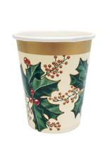 creative converting 9oz. Winter Holly Cups - 25ct.