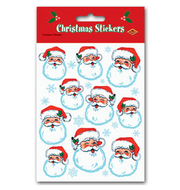 Beistle Santa Face Christmas Stickers