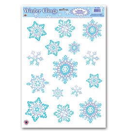 Beistle Snowflake Window Clings
