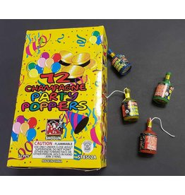 72 ct. Party Poppers