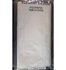 "elegant design White PolyPaper Tablecover - 54"" x 108"""