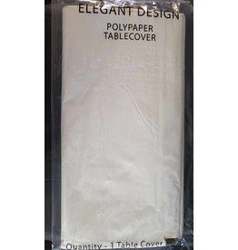 elegant design White PolyPaper Tablecover